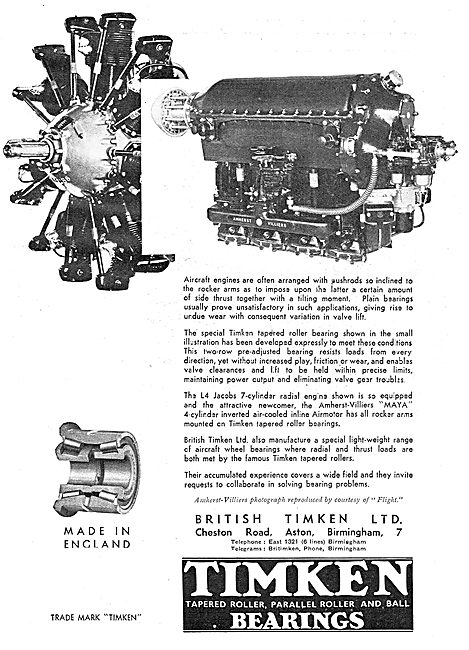 Timken Bearings For Aircraft Engines