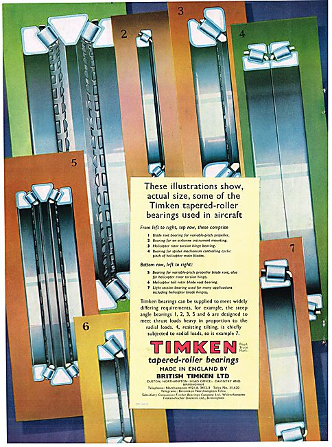 Timken Tapered Roller Bearings For Aircraft