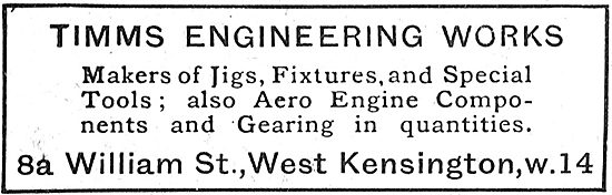 Timms Engineering Works - Jigs & Fixtures For Aircraft Work