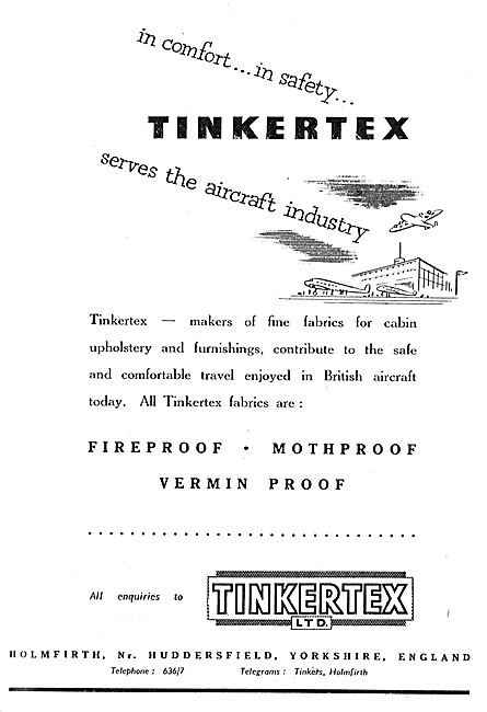 Tinkertex Aircraft Upholstery Fabrics