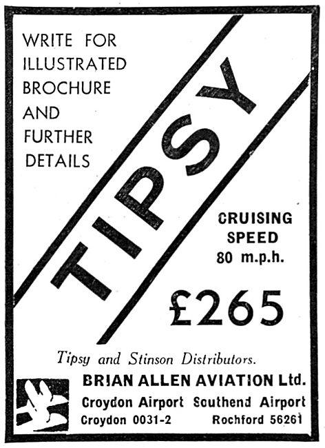 Tipsy Aircraft - Brian Allen Aviation