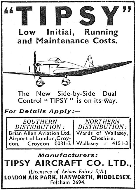 Tipsy Aircraft Hanworth