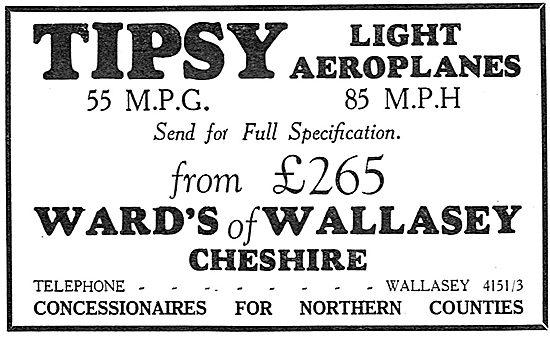 Tipsy Aircraft - Wards Of Wallasey