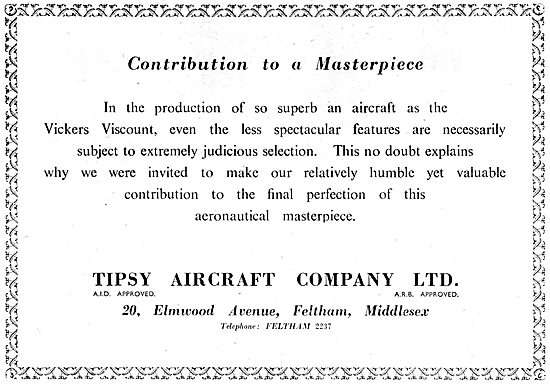 Tipsy Aircraft  - Component Manufacturing & Fabrication