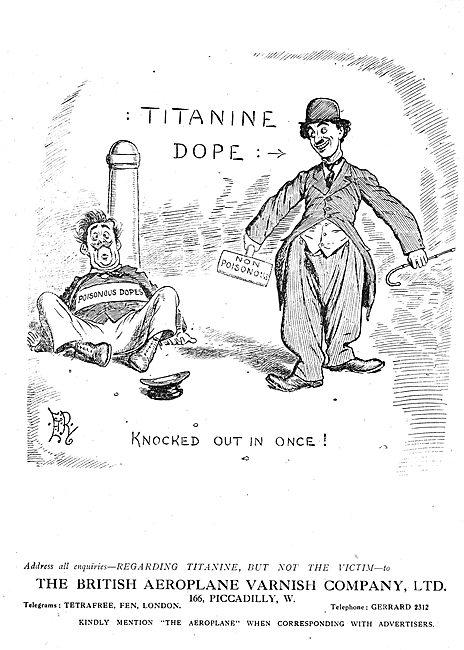 Don't Use Poisonous Aeroplane Dopes!  Use Titanine
