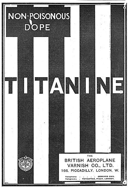 Titanine Non-Poisonous Aeroplane Dope