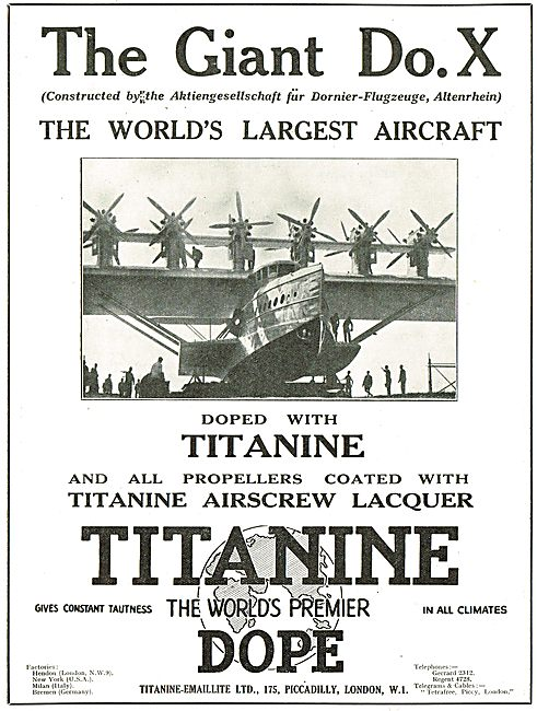 The Giant Dornier Do.X Is Doped With Titanine