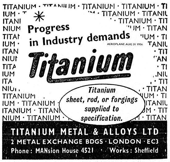 Titanium Metals & Alloys. Sheet, Rod, Forgings