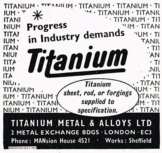 Titanium Metals & Alloys For Titanium Rods, Forgings & Sheet