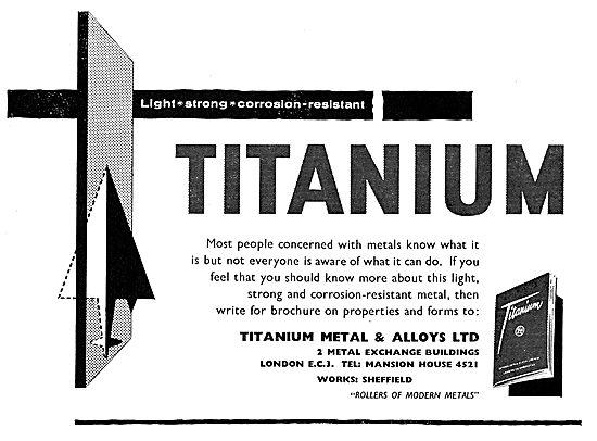 Titanium Metals & Alloys: Metals For The Aircraft Industry