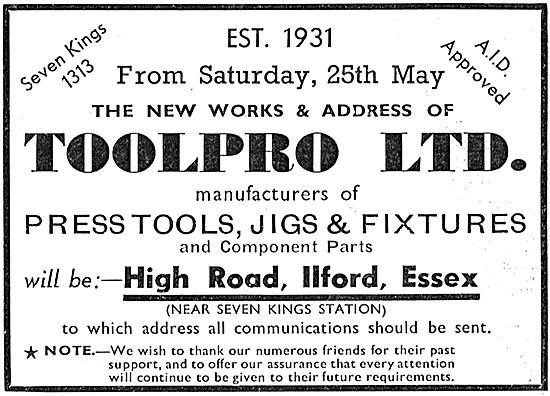 Toolpro Press Tools, Jigs & Fixtures 1940