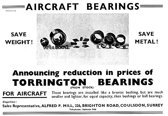 Torrington Bearings For Aircraft