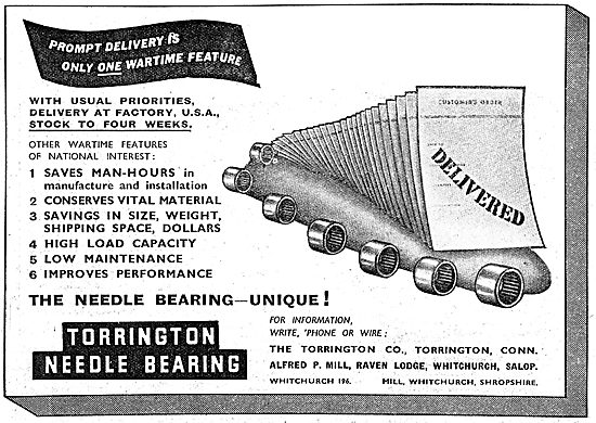 Torrington Bearings. Alfred P.Hill. The Torrington Co. Conn