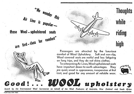 The Wool Industry -  Aircraft Seating