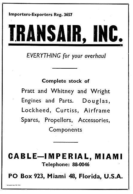 Transair Inc. Everything For Your Overhaul. Pratt & Whitney