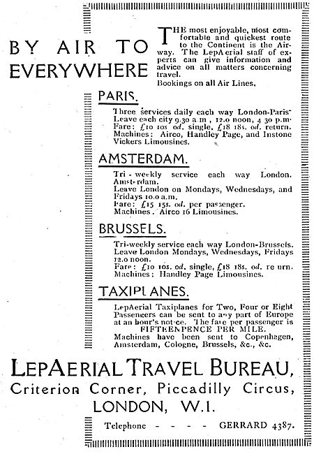 LepAerial Travel Bureau - By Air To Everywhere