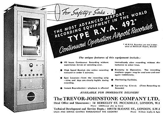 Trevor-Johnstone Airport ATC Recorders. R.V.A.492