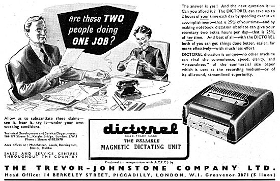 Trevor-Johnstone DICTOREL Magnetic Dictating Machine