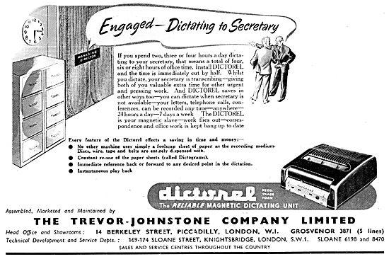 Trevor-Johnstone  DICTOREL Magnetic Dictating Machine
