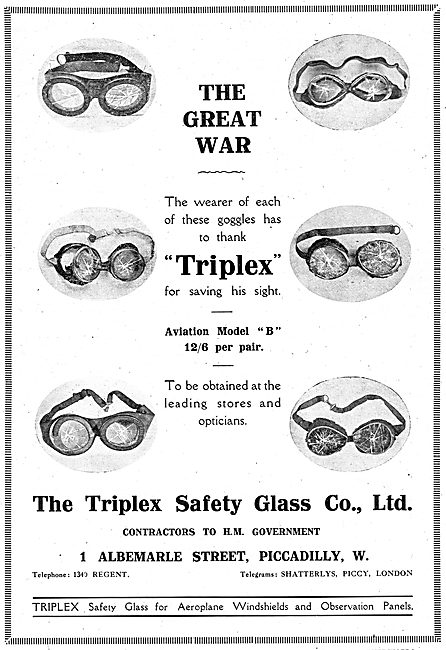 Triplex Safety Goggles Saving Lives In The Great War
