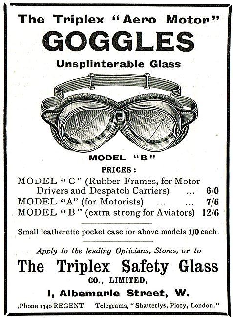 Triplex Aero Motor Safety Goggles