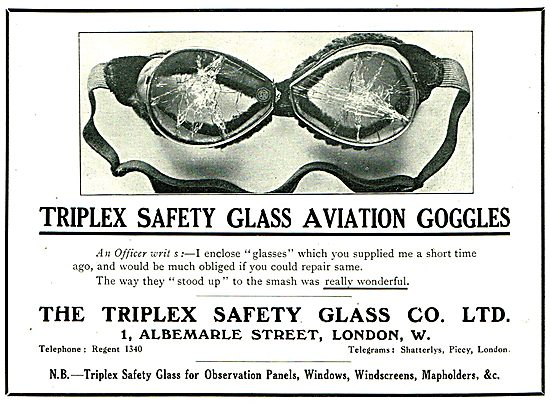 Triplex Safety Glass Aviation Goggles