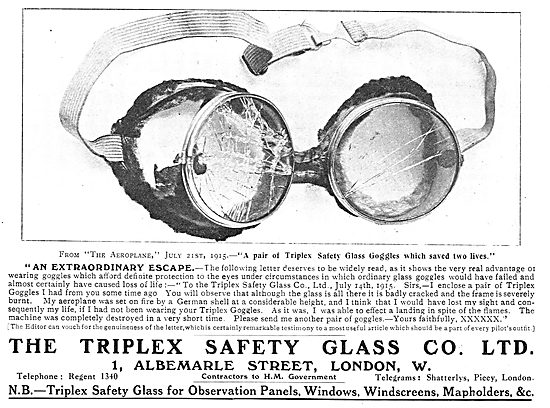 An Extraordinary Escape Thanks To Triplex Safety Goggles