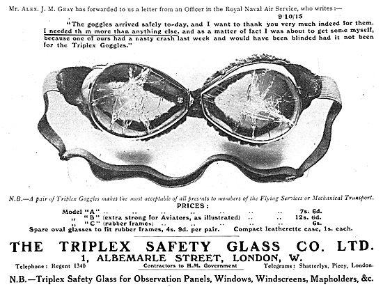Triplex Safety Goggles