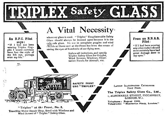 Triplex Safety Glass - A Vital Necessity For RFC Pilots