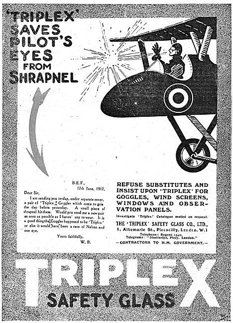 Triplex Safety Glass Saves Pilot's Eyes From Shrapnel