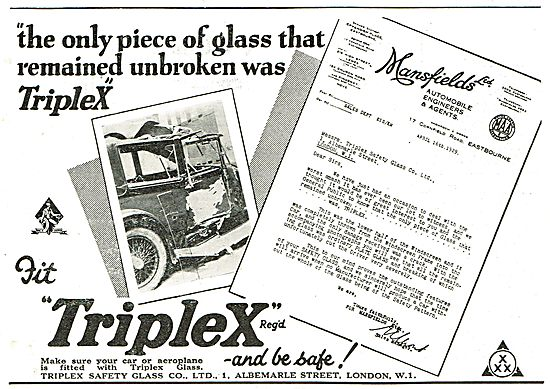 Triplex Safety Glass - Motor Testimonials Series (Mansfields Ltd)