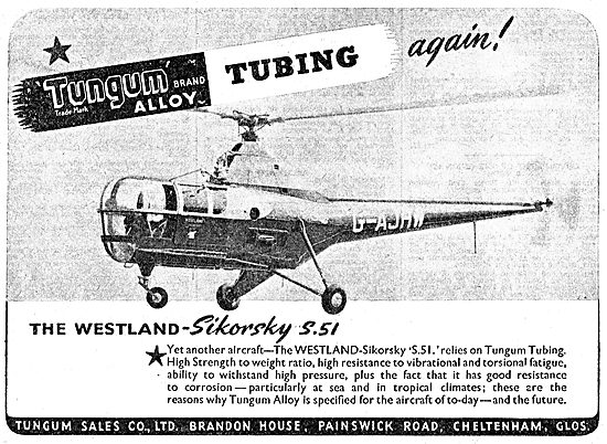 Tungum Alloy Tubing & Pipework For Aircraft 1949