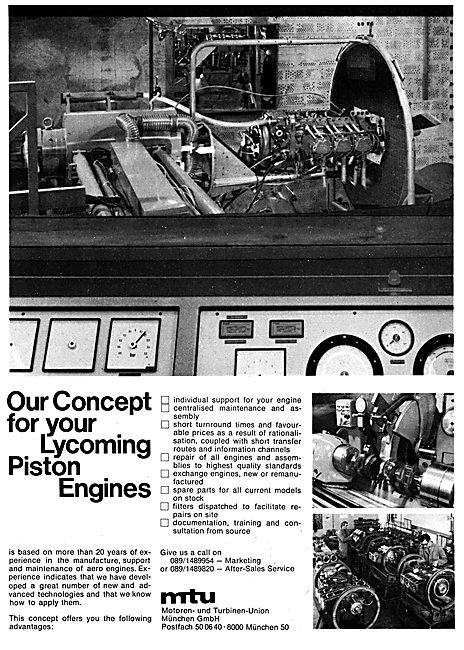 Turbo-Union Lycoming Engines 1979  MTU