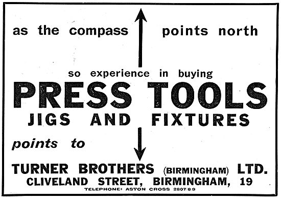 Turner Brothers (Birmingham) Press Tools, Jigs & Fixtures
