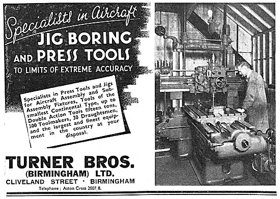 Turner Brothers (Birmingham) . Jig Boring Tools & Press Tools