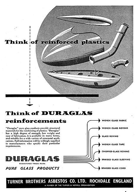 Turner Brothers - Asbestos - Duraglas - Reinforced Plastics