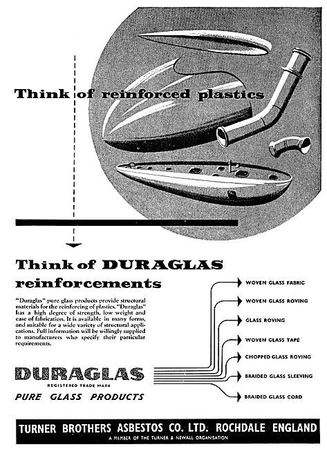 Turner Brothers Duraglas Fibre Glass Composite