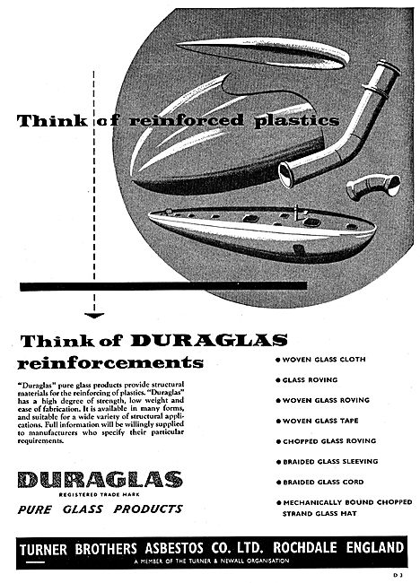 Turner Brothers Duraglass Glass Reinforced Plastics