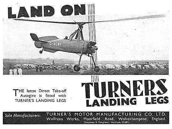 Turners Landing Legs - Cierva Autogiro
