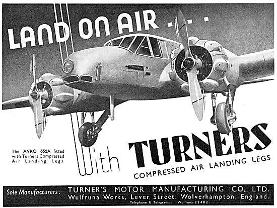 Turner's Motor Manufacturing - Compressed Air Landing Legs 1935