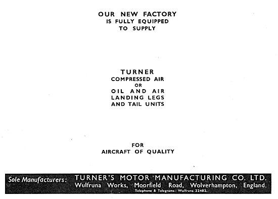 Turner Motor Manufacturing - Landing Gear Legs & Tail Units