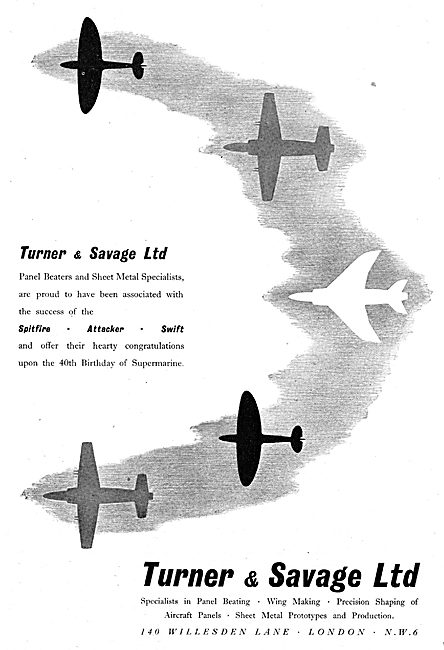 Turner & Savage - Sheet Metal Work & Aircraft Assemblies