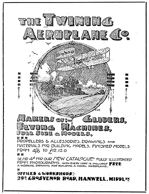 Twining Aeroplane Co Middx - Makers Of Gliders & Aeroplanes