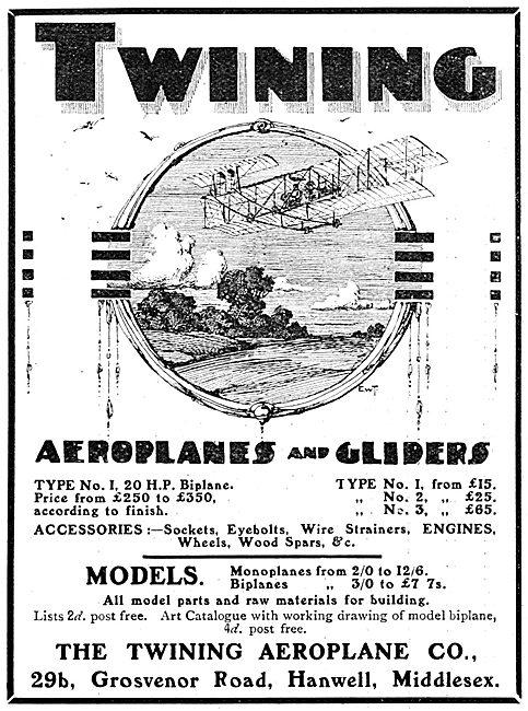 Twining Aeroplanes,Gliders & Models