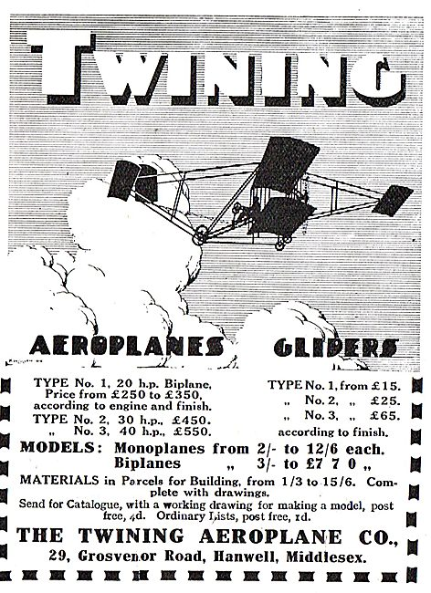 Twining Aeroplane Co - Aeroplanes & Gliders