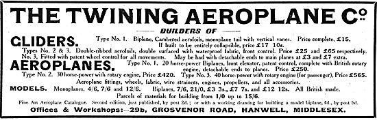 Twining Aeroplane Co Aeroplane Constructors