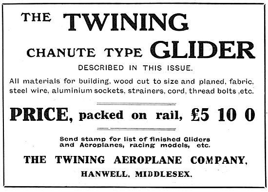 Twining Aeroplane Co. Twining Chanute Type Glider
