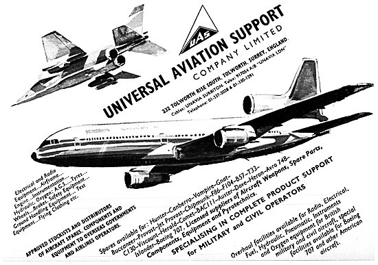 UAS - Universal Aviation Support. Aircraft Parts Stockists
