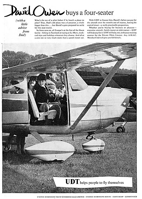 United Dominions Trust - David Owen Buys A Four Seater