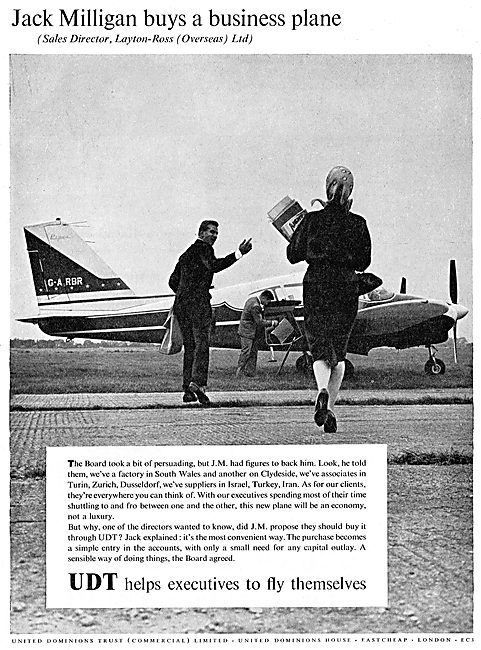 United Dominions Trust - Jack Milligan Buys A Business Plane
